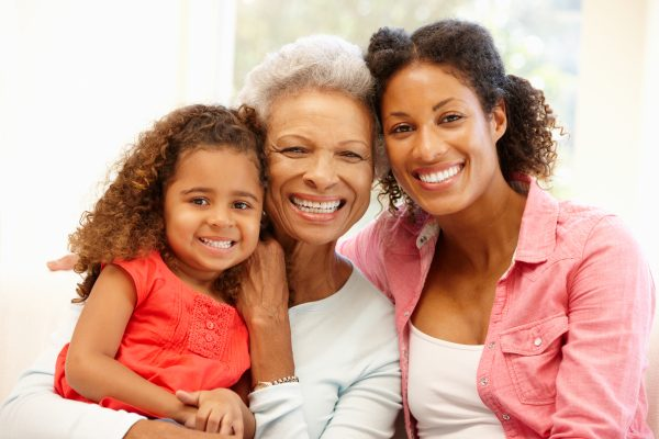 Mother, daughter and grandaughter