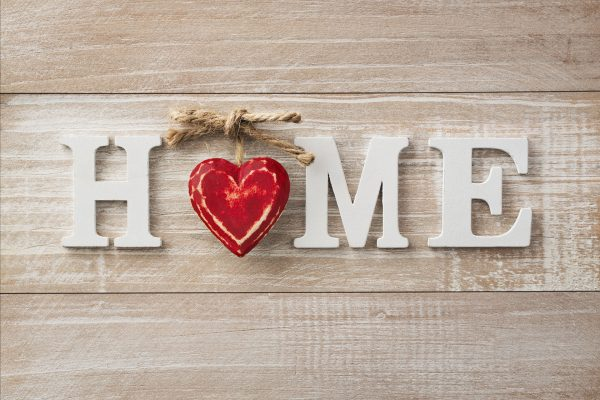 "wall decor...""Home"" with a heart where the O would be"