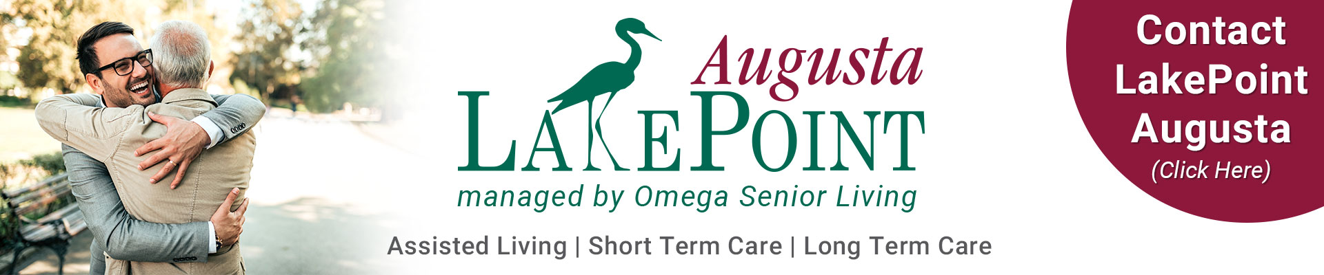 Contact LakePoint Augusta for Assisted Living, Short Term Care & Long Term Care needs.